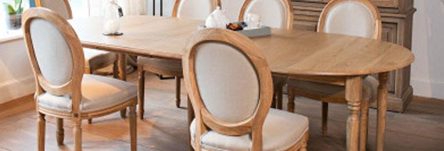 tables rondes design en bois